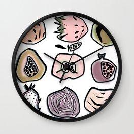 Exotic fruits Wall Clock