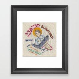 Julia Child, Patron Saint of Mise en Place Framed Art Print