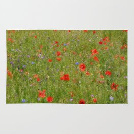 Field of Poppies (in mosaic) Rug