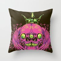 third eye Throw Pillows featuring Third eye by Tshirt-Factory