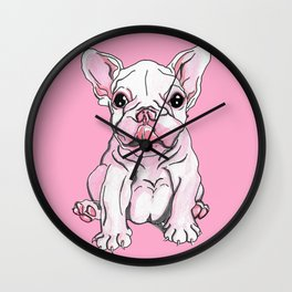 Frenchie Pup Wall Clock