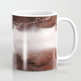 Modern Earthy Brown and Gold Watercolor Abstract Coffee Mug