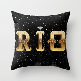 The Face of Rio - Silhouette Throw Pillow