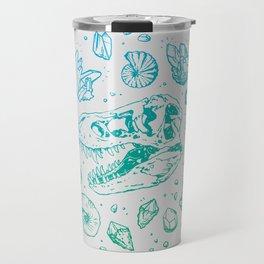 Geo-rex Vortex   Turquoise Ombré Travel Mug