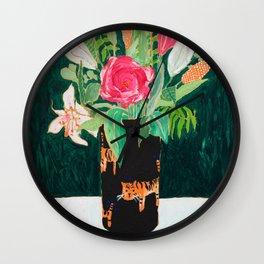 Tiger Vase Wall Clock