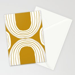 Ochre rainbow  Stationery Cards