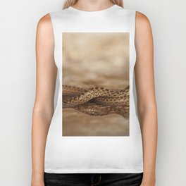 Snake reflection in water puddle Biker Tank