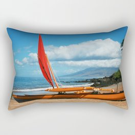 Hina Wāʻapea Sailing Canoe  Polo Beach Wailea Maui Hawaii Rectangular Pillow