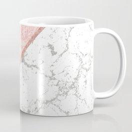 Geometrical pastel gray coral rose gold marble Coffee Mug