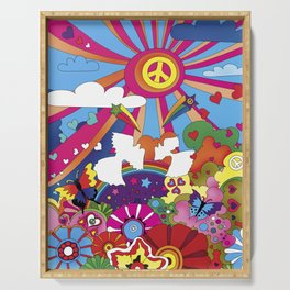 Woodstock- Peace Serving Tray