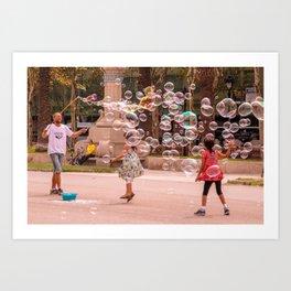Soap Children of Barcelona Art Print