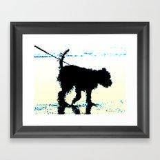 Blues Dog Framed Art Print