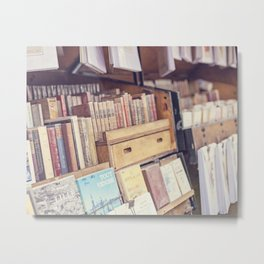Finding Friends - Books in Paris, France Metal Print