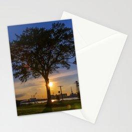 Sunset At Elizabeth River Park Stationery Cards