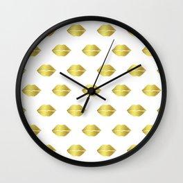 Kissable Lips Wall Clock