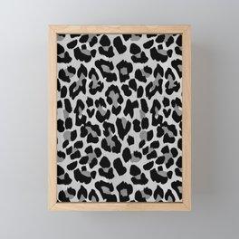 Grey Leopard Framed Mini Art Print