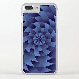 Innocence, Struggles and Trouble Spiral Geometric Pattern Clear iPhone Case