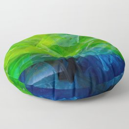 plastic yellow and blue Floor Pillow