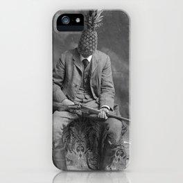 Mr. Pineapple with shotgun. 1904. iPhone Case