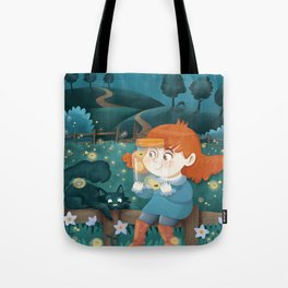 Giadina and the fireflies Tote Bag