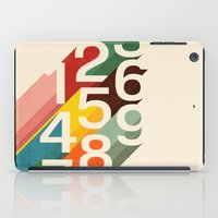 numbers iPad Cases featuring Retro Numbers by Picomodi