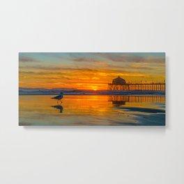 February Sunset Metal Print