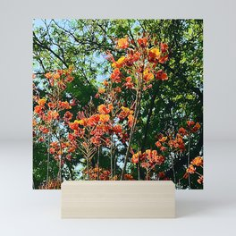 Flowers In The Trees Scenic Art Photo Mini Art Print