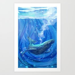 Whale There Art Print