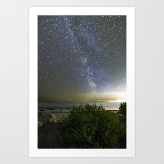 Milkyway at Pebble Beach Art Print