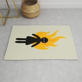 Beware of The Angry Girl Rug