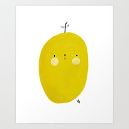 And that's why the olive is sad. Art Print