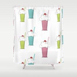 milkshake cocktail Shower Curtain