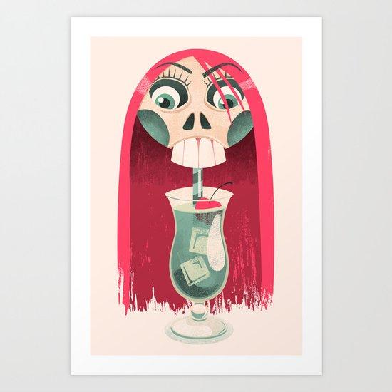 The Deadliest Sip Art Print