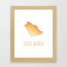 Saudi Arabia Framed Art Print