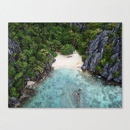 Isolated Beach Canvas Print