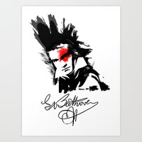 beethoven Art Prints featuring Beethoven Punk by viva la revolucion