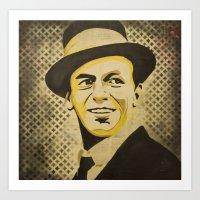 frank sinatra Art Prints featuring Frank Sinatra by Jarod Lew