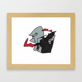 Elderly Assassin Framed Art Print