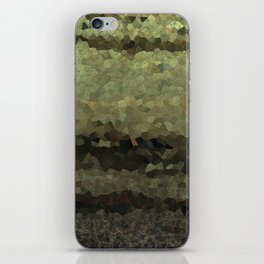 Wood and stone layers abstract pattern iPhone Skin