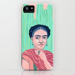 Frida Kahlo Mexican Artist gouche painting print iPhone Case