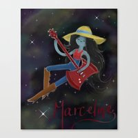 marceline Canvas Prints featuring Marceline  by Bunny Frost