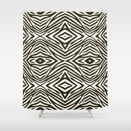 Café Mocha Neutral Zebra Shower Curtain