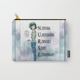 Nurse with Stethoscope Carry-All Pouch
