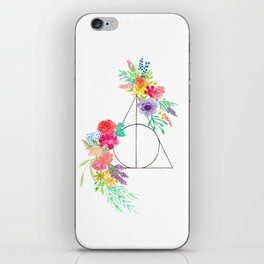 Deathly Hallows Floral iPhone Skin