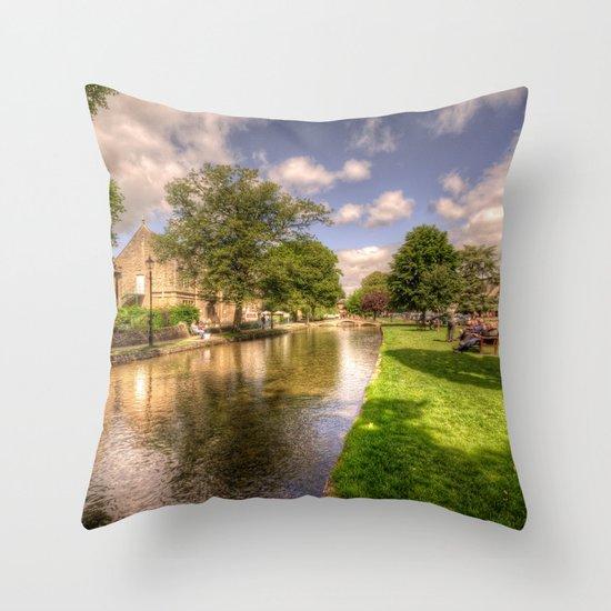 Bourton on the water Throw Pillow