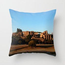 Roman ruin in Rome photography Throw Pillow