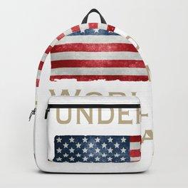 Undefeated World War Champs Men's Women's Kids USA flag t shirt Backpack