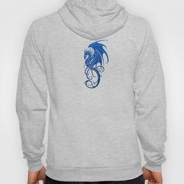 Flying Blue and Black Tribal Dragon Hoody