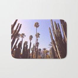 Palm trees, cactus and summer Bath Mat