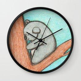 Sleepy Koala Wall Clock